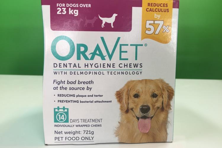 oravet dental chews packaging