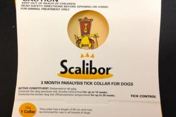 scalibor tick collar in box