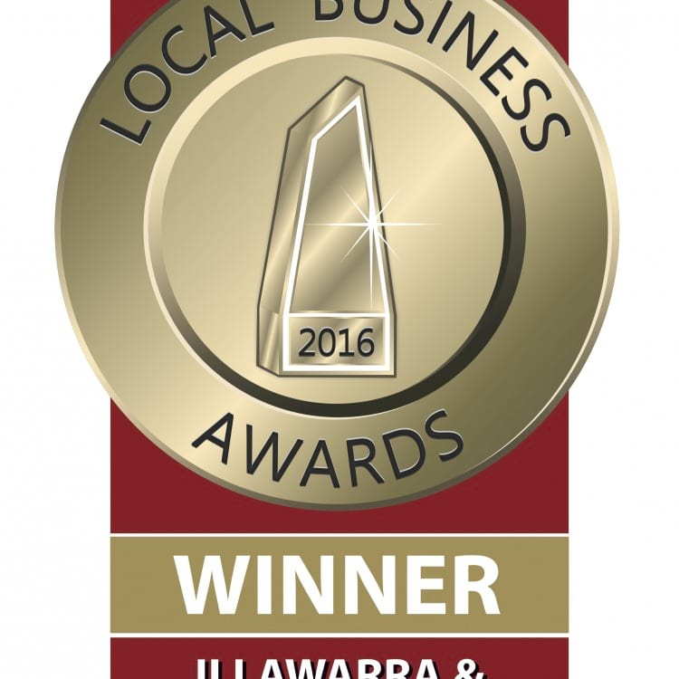 Local Business awards Illawarra and Southcoast winner 2016