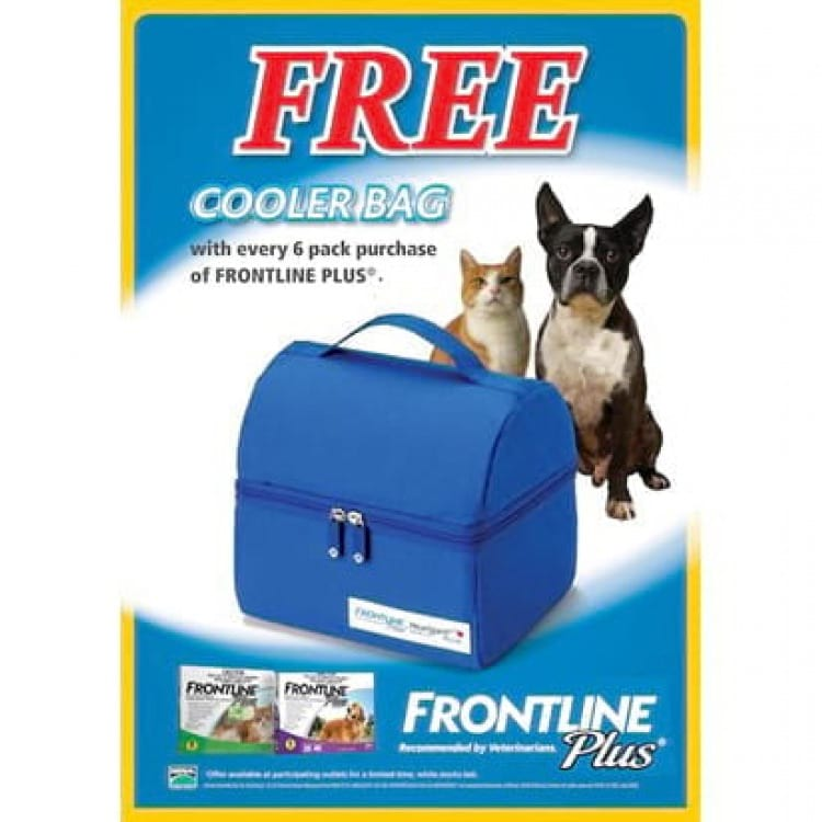 Get a free cooler bag with a 6 pack of frontline plus